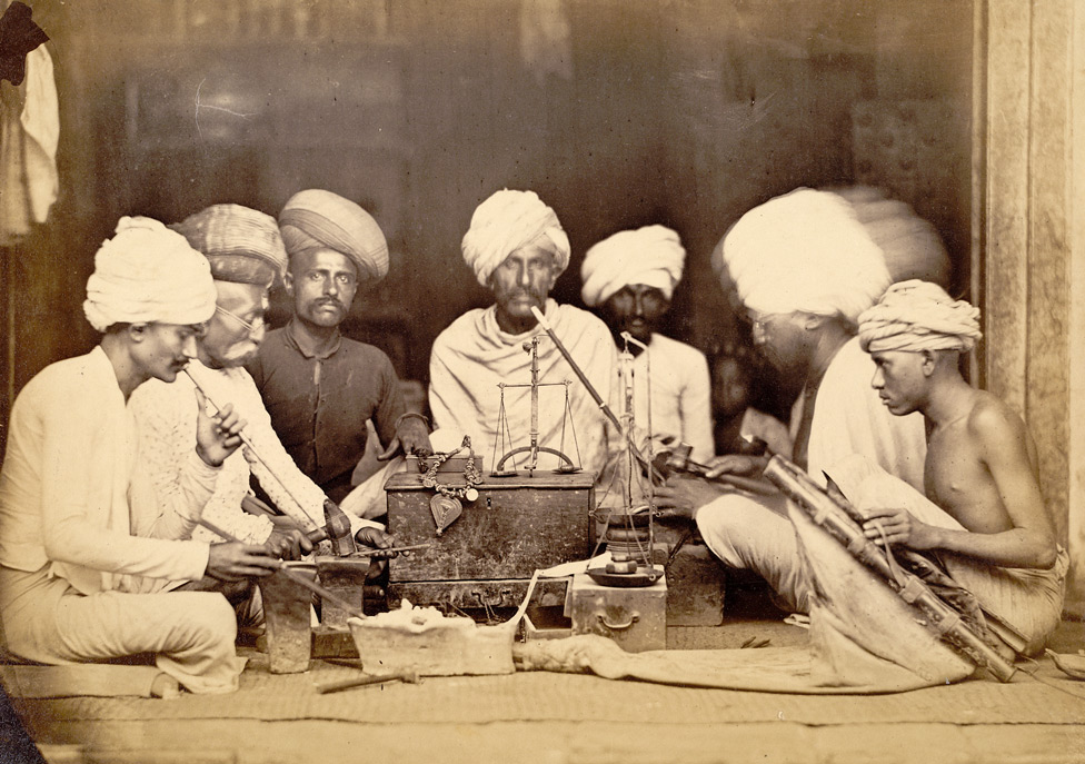 A goldsmith's shop, Bombay